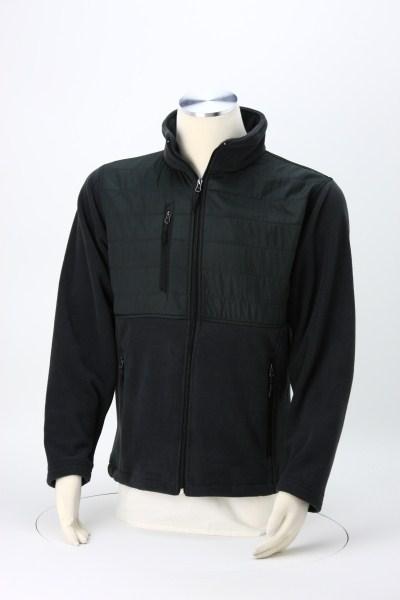 Quilted Overlay Fleece Jacket - Men's 360 View