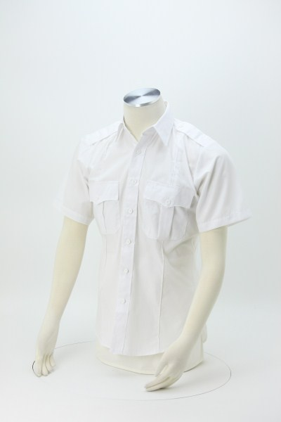 Poly/Cotton Short Sleeve Security Shirt 360 View