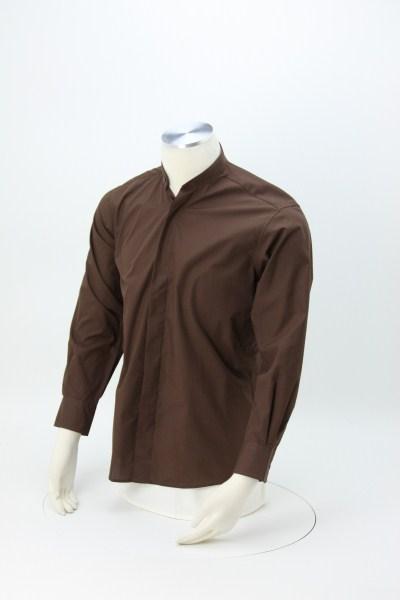 Broadcloth Banded Collar Shirt - Men's 360 View