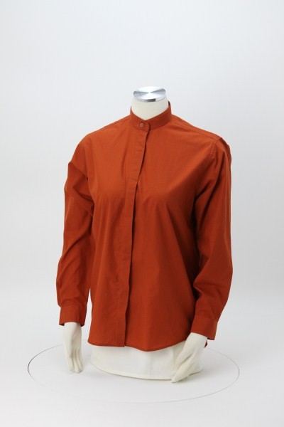 Broadcloth Banded Collar Shirt - Ladies' 360 View