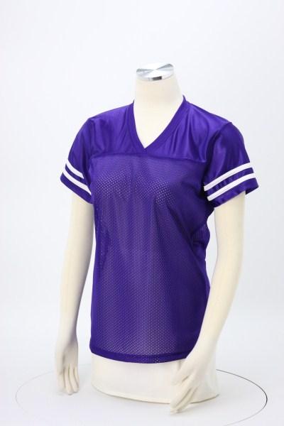 Poly Mesh Jersey V-Neck T-Shirt - Ladies' 360 View