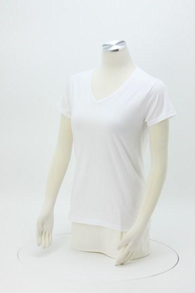 Anvil Ringspun 4.5 oz. V-Neck T-Shirt - Ladies' - White 360 View
