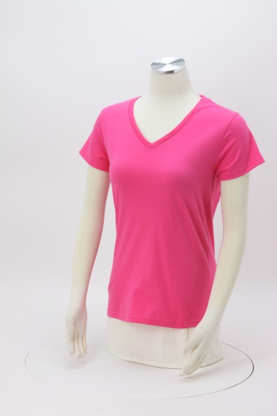 Anvil Ringspun 4.5 oz. V-Neck T-Shirt - Ladies' - Colors 360 View