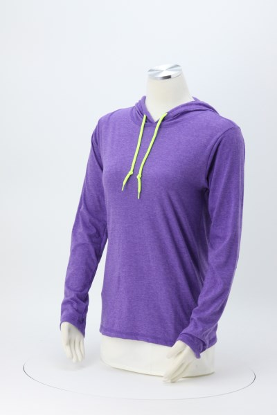 Anvil Ringspun LS Hooded T-Shirt - Ladies' - Screen 360 View