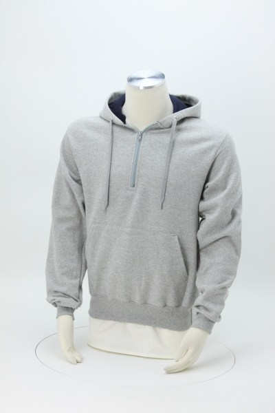 Champion Cotton Max 1/4-Zip Hoodie - Embroidered 360 View