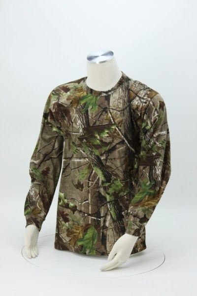 Code V Realtree Camouflage Long Sleeve T-Shirt 360 View