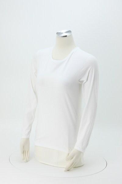 Anvil Ringspun 4.5 oz. LS T-Shirt - Ladies' - White 360 View