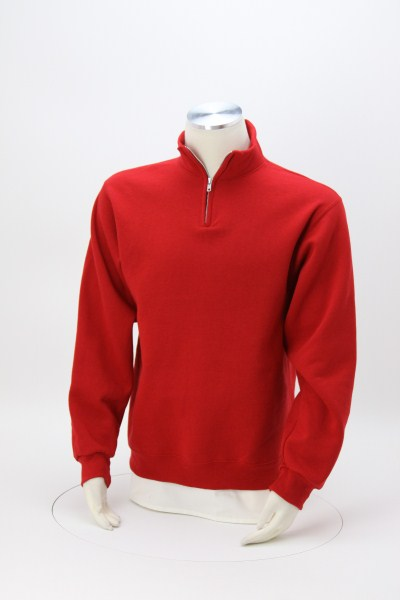 Jerzees NuBlend 1/4-Zip Sweatshirt - Embroidered 360 View