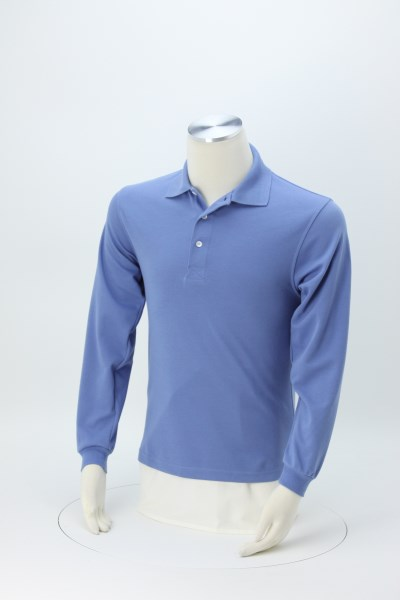 Quick Dry Long Sleeve Pique Polo 360 View