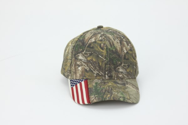 Outdoor Cap American Flag Cap 360 View