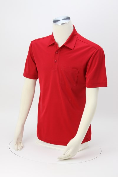 Silk Touch Performance Pocket Sport Polo 360 View