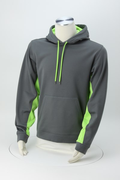 Performance Fleece Colorblock Hoodie - Men's - Embroidered 360 View