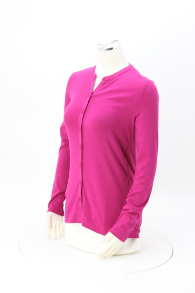 Soft Stretch Buttonfront Cardigan - Ladies' 360 View