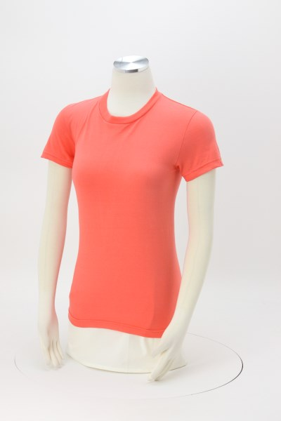 American Apparel Fine Jersey T-Shirt - Ladies' - Colors - Screen - USA Made 360 View