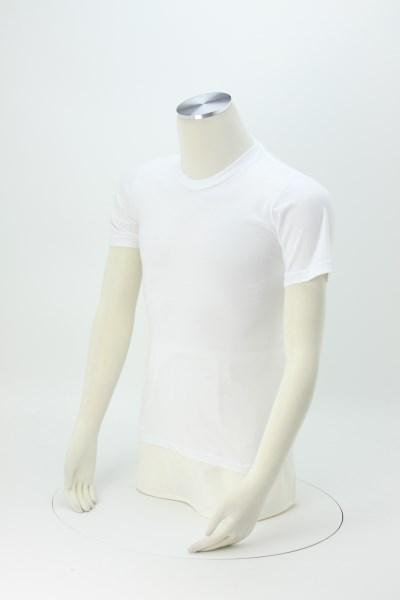 American Apparel Fine Jersey T-Shirt - Men's - White - Screen - USA Made 360 View