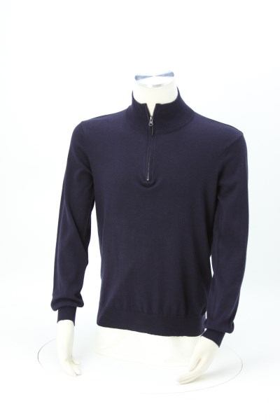 Quentin Fine Gauge 1/4-Zip Sweater - Men's 360 View
