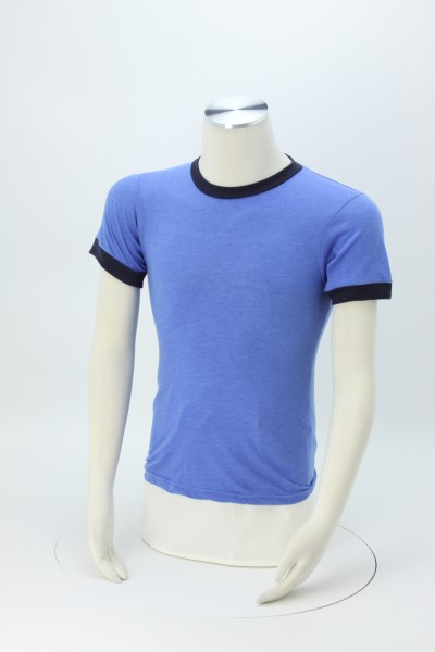 American Apparel Ringer Blend T-Shirt - Colors 360 View