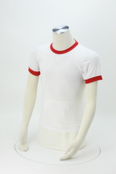 American Apparel Ringer Blend T-Shirt - White 360 View