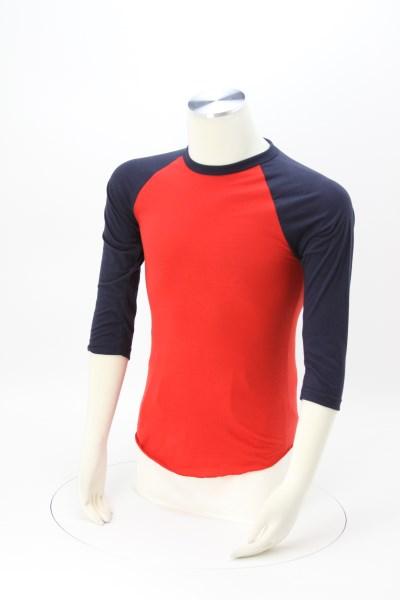 American Apparel 3/4 Sleeve Raglan T-Shirt - USA Made 360 View