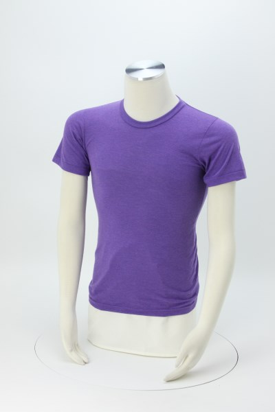 American Apparel Tri-Blend Track T-Shirt - USA Made 360 View