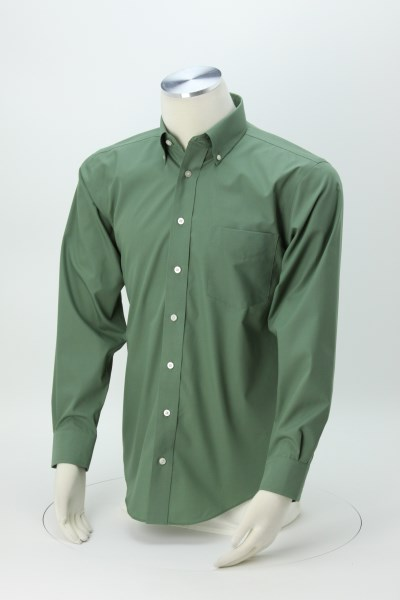 Crown Collection Solid Broadcloth Shirt - Men's 360 View