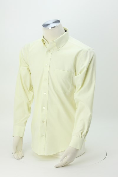 Crown Collection Solid Oxford Shirt - Men's 360 View