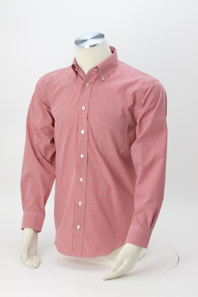 Crown Collection Gingham Check Shirt - Men's 360 View