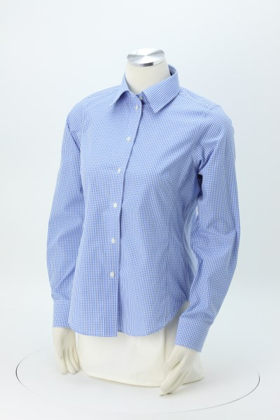 Crown Collection Gingham Check Shirt - Ladies' 360 View