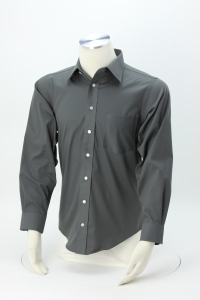 Crown Collection Solid Stretch Twill Shirt - Men's 360 View