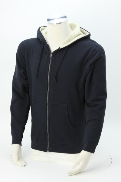 Independent Trading Co. Sherpa Lined Full-Zip Hoodie - Embroidered 360 View