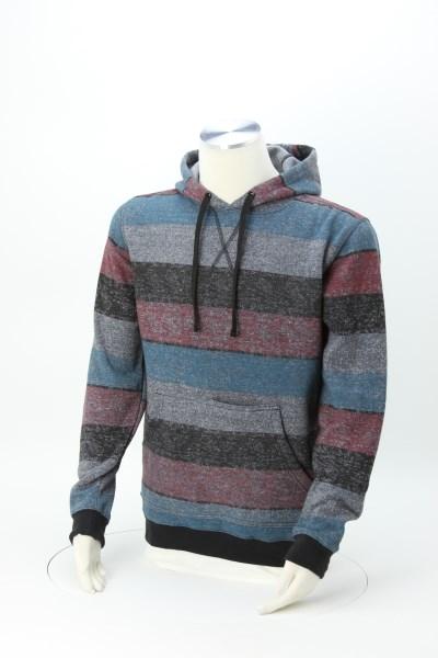 Burnside Printed Striped Fleece Sweatshirt 360 View