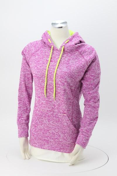 J. America - Cosmic Poly Fleece Hoodie - Ladies' - Embroidered 360 View