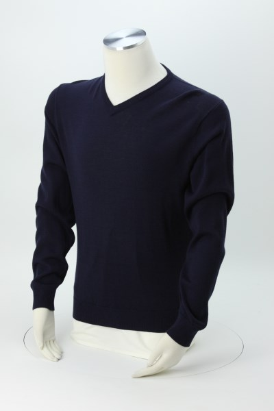 Cutter & Buck V-Neck Merino Blend Sweater - Men's 360 View