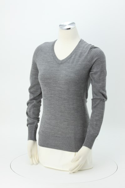 Cutter & Buck V-Neck Merino Blend Sweater - Ladies' 360 View