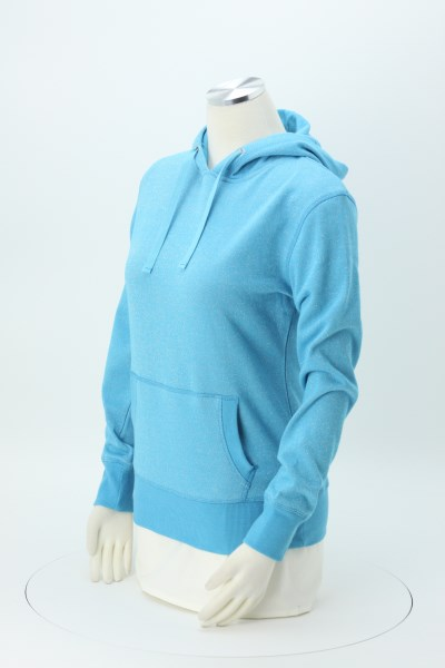 J. America Glitter French Terry Hoodie - Ladies' - Embroidered 360 View