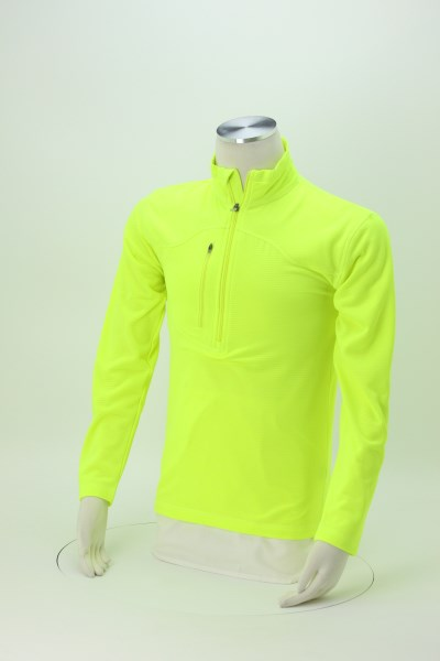 Cool & Dry Box Jacquard 1/4-Zip Microfleece 360 View