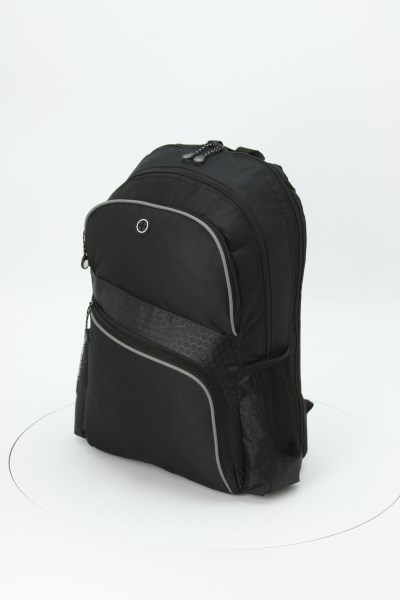 """Hive 17"""" Checkpoint-Friendly Laptop Backpack - Embroidered 360 View"""