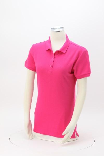 Gildan Premium Cotton Double Pique Polo - Ladies' - Embroidered 360 View