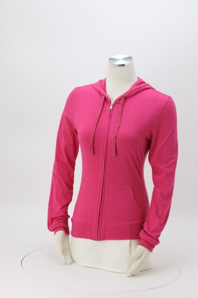 Lightweight Jersey Full-Zip Hoodie - Ladies' 360 View