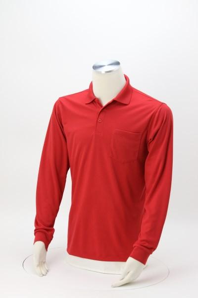 Vital Long Sleeve Pocket Performance Polo - Men's 360 View