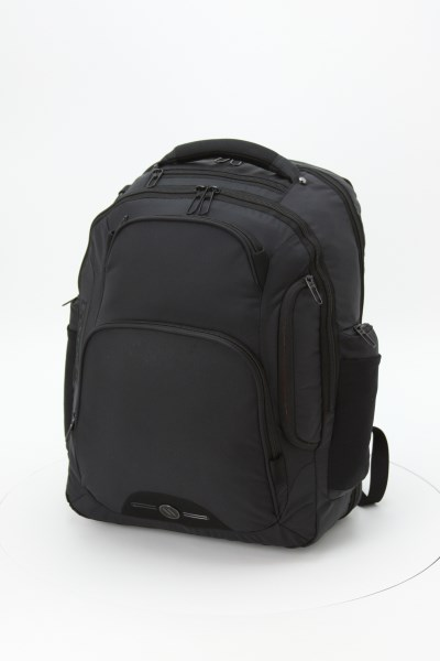 elleven Rutter Checkpoint-Friendly Laptop Backpack - Embroidered 360 View