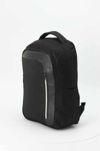 Vault RFID Security Laptop Backpack - Embroidered 360 View