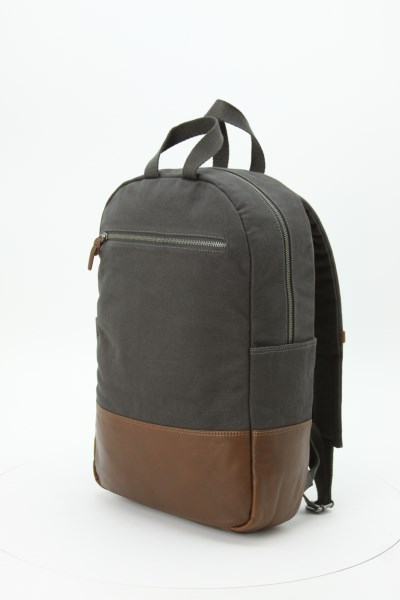 Alternative Slim Laptop Backpack - Embroidered 360 View