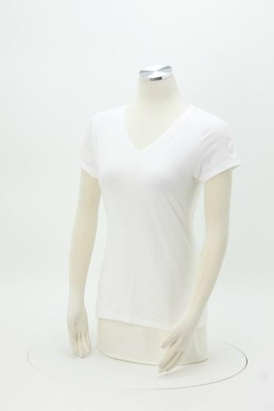 3cb59a6a330a2 4imprint.com: Fruit of the Loom Sofspun V-Neck T-Shirt - Ladies ...