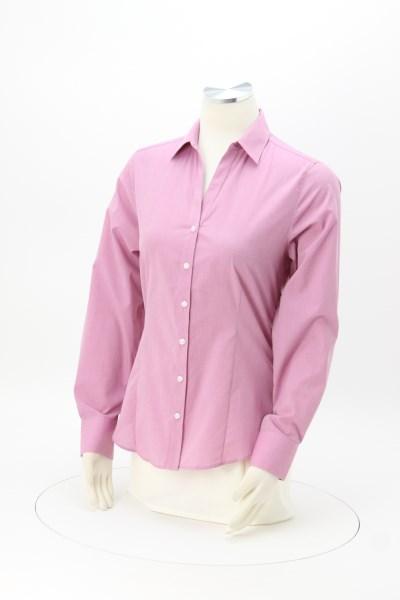 Easy Care Poplin Crosshatch Shirt - Ladies' 360 View