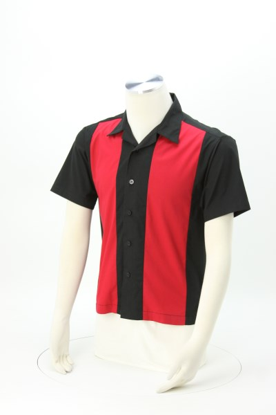 Peached Twill Colorblock Shirt 360 View