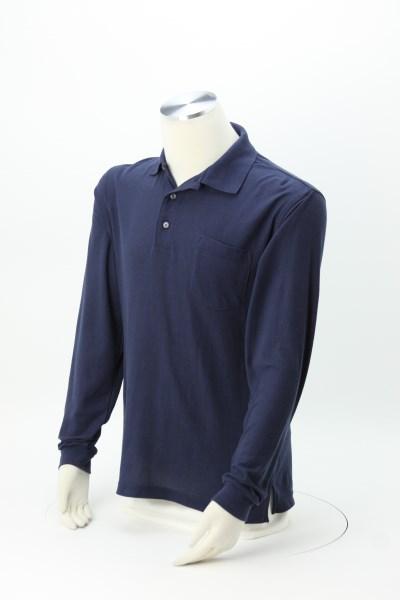 Silk Touch Long Sleeve Sport Pocket Shirt - Men's 360 View