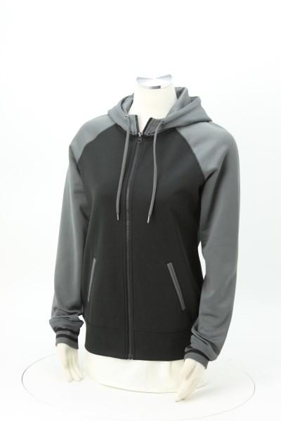 Performance Colorblock Full-Zip Hooded Sweatshirt - Ladies' 360 View
