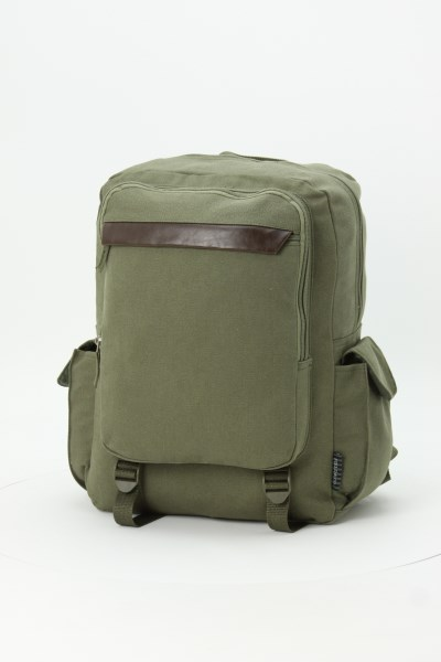 Field & Co. Ranger Laptop Backpack - Embroidered 360 View