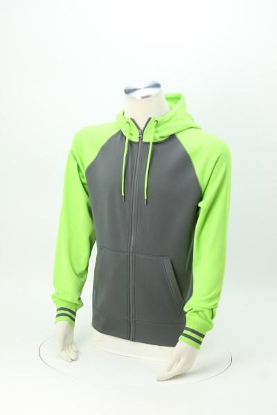 Performance Colorblock Full-Zip Hooded Sweatshirt - Men's 360 View